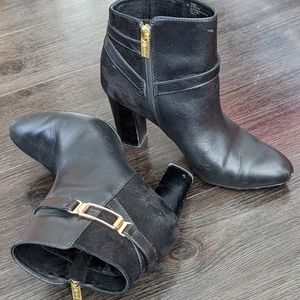 Isola Eppie Mixed Media Ankle Booties in Black